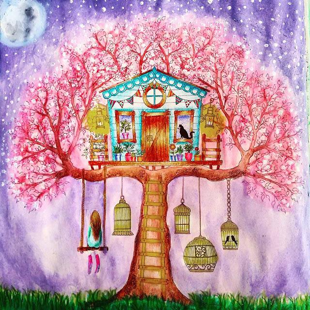 DIY Decoração Livro de colorir Jardim Secreto Minhas pinturas 2