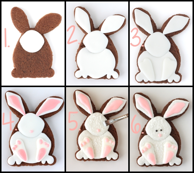 How to make decorated Eastery bunny cookies