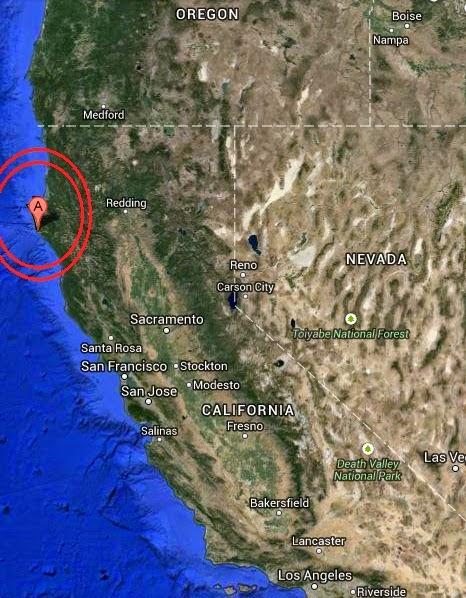 Magnitude 4.2 Earthquake of Rio Dell, California USA 2014 October 19