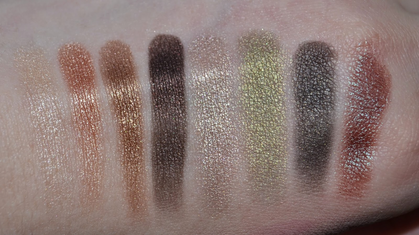 Wet & Wild Comfort Zone Palette Swatches
