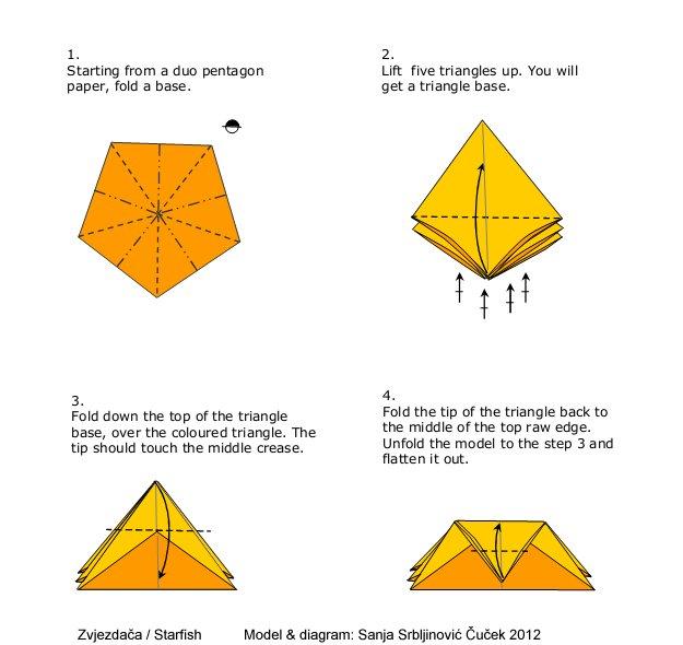 Origami art novosti ad astra - Origami de una estrella ...