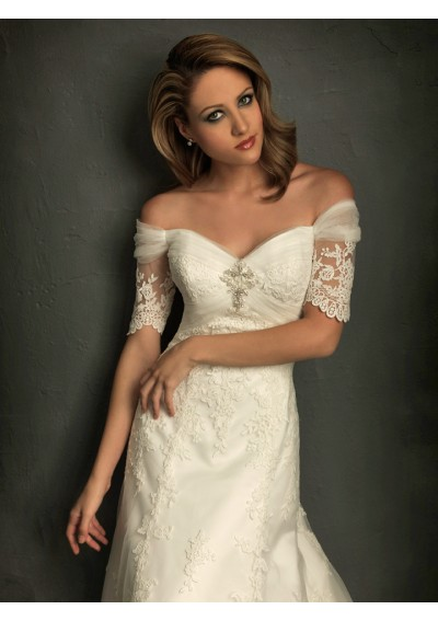 Wedding belle lace sleeve wedding dresses for Adding sleeves to a wedding dress