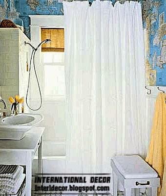 Modern wallpaper for bathrooms 2014 10 basic rules for for Bright bathroom wallpaper