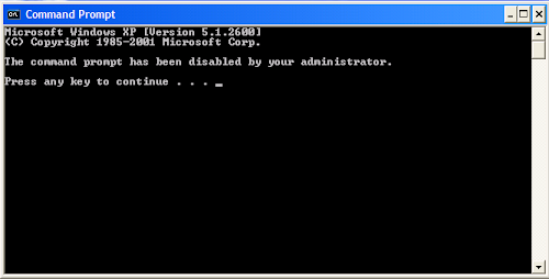 Enable Command Prompt