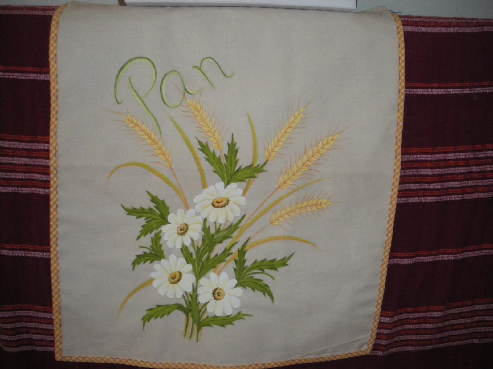 Artesania pintura en tela y manualidades bolsas para el pan - Bolsas para pintar ...