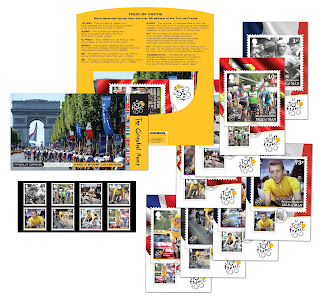 Tour de France Edition 100 stamps from Isle of Man Post Office
