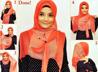 Unique Mode Mode Cara Memakai Jilbab Modern Simpel