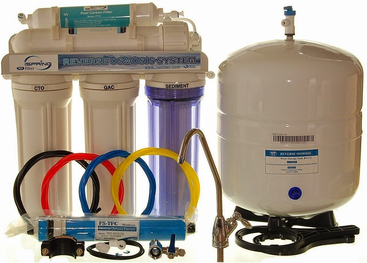 Water filtration systems 2014 ispring 75gpd 5 stage reverse osmosis water filter system publicscrutiny Image collections