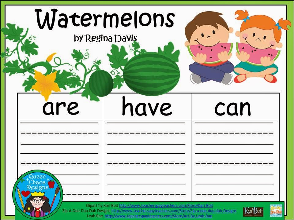 http://www.teacherspayteachers.com/Product/A-Watermelons-Three-Graphic-Organizers-1254994