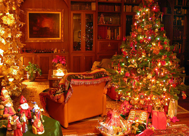 Beautiful  merry christmas home decoration photos