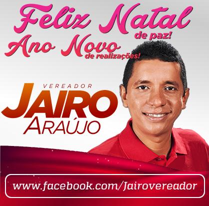 MENSAGEM DO VEREADOR JAIRO ARAÚJO