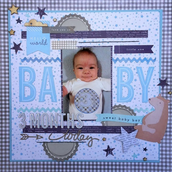 Scrapping With Christine 3 Months Baby Boy Layout