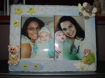 Mamães e bebês.