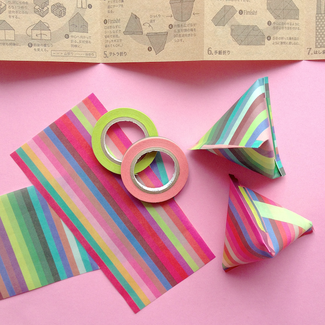 how to make a paper pouch origami