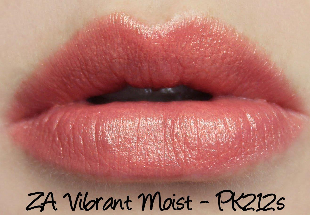 ZA Vibrant Moist Lipstick - PK212s swatches & review