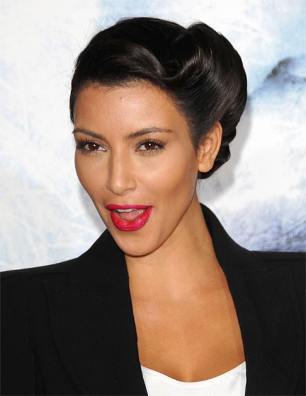 Kim Kardashian Updo Hairstyles 09