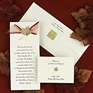 Elegant wedding invitation cards
