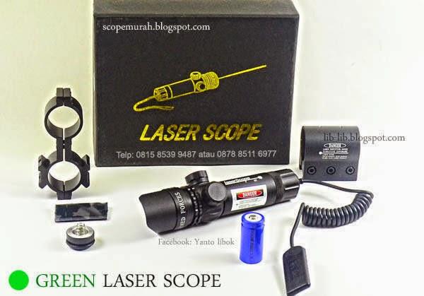 laser hijau senapan