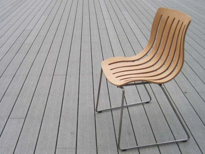 outdoor plywood chair