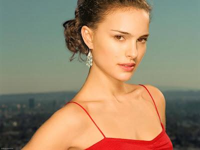 Natalie Portman HD Wallpaper red dress