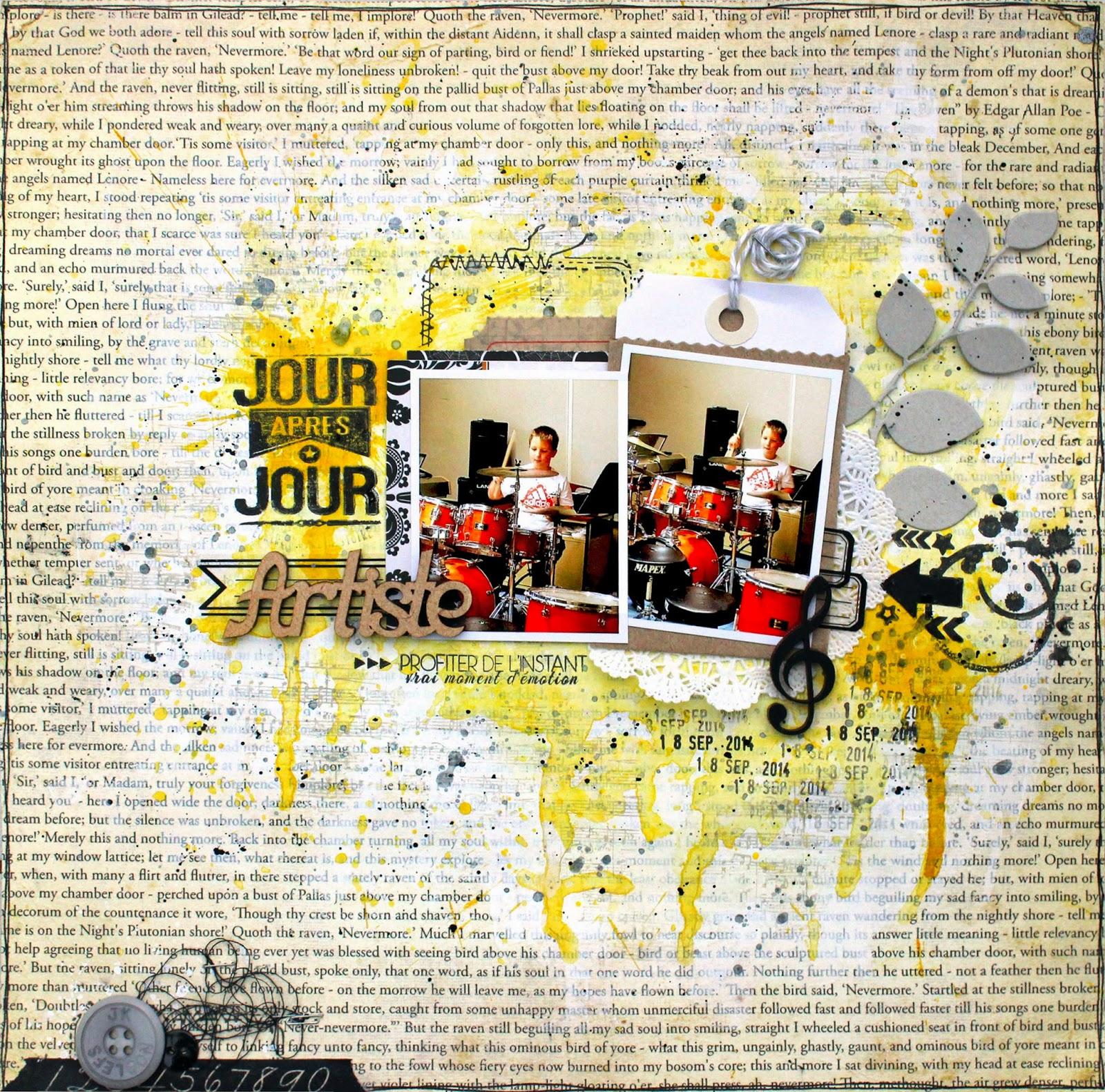 Papier Peint Jaune Orangé - Uni Jaune orangé Empreintes Papier peint direct
