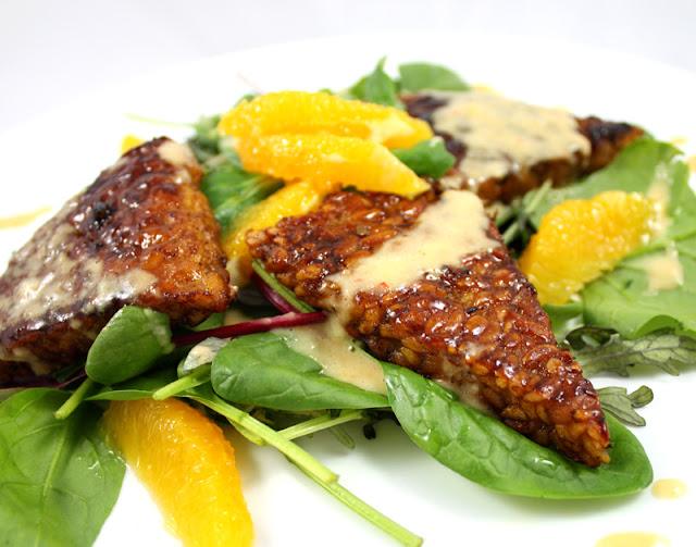 Oppskrift Spicy Tempeh Sunn Julemiddag Vegetarisk Vegansk Julemat Soyafilet