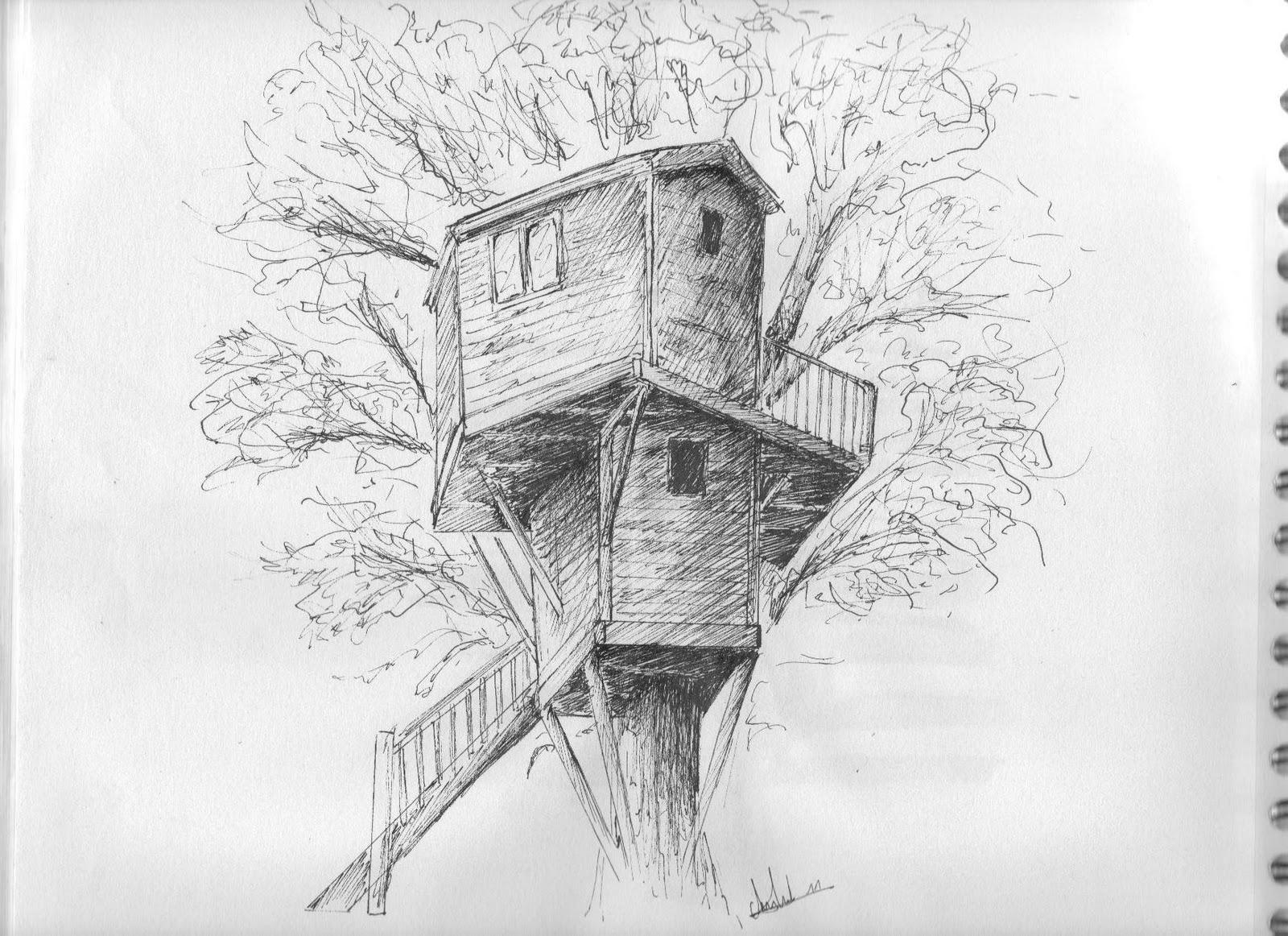 Lulli feliz carnet de dessin mercredi 16 f vrier 2011 - Dessin cabane ...