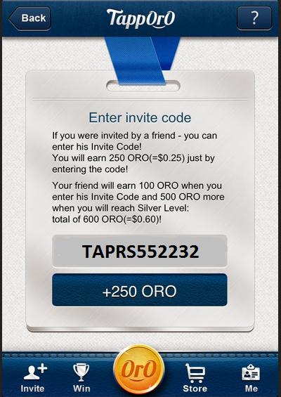 Kode Tapporo Gratis Oro