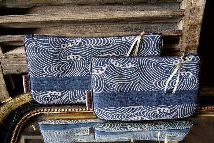 pochettes hokusai bande surpiquée