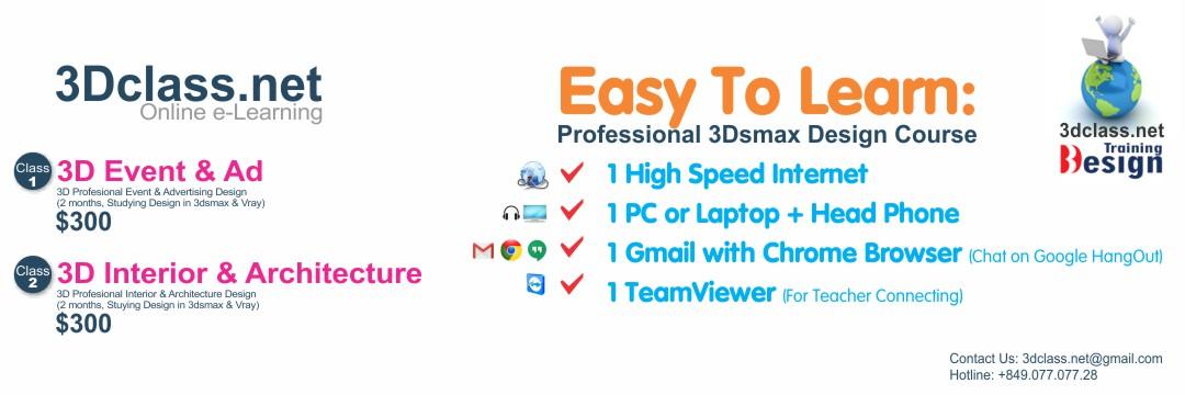 3Dclass.net Lớp học 3D online qua video trực tuyến