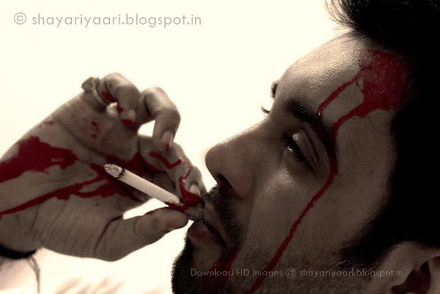 ... Shayari In Hindi   Heart Touching   Bloody Sad HD Image - Shayaris