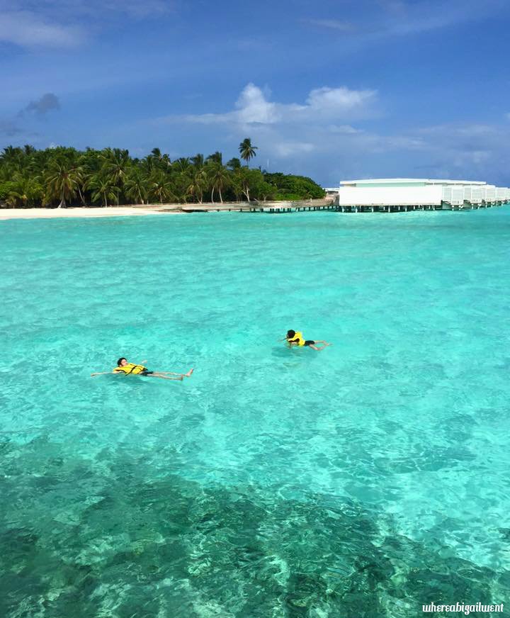 Swimming at Amilla Fushi