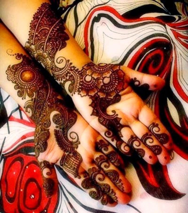 Latest Best and Beautiful Hand Mehndi Designs Wallpapers Free Download