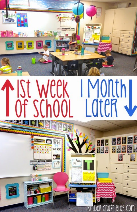 kindergarten classroom decorations completed during the school year