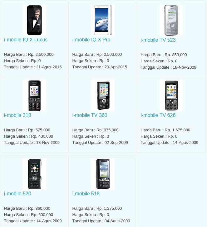 Daftar Harga Hp I-Mobile Januari 2016