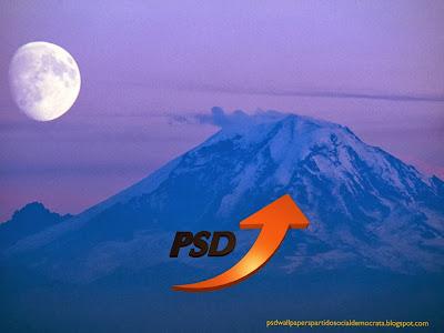 Papel de parede do emblema do Partido Social Democrata emblema Seta em perspectiva do PSD para utilizar como fundo de tela do seu ambiente de trabalho