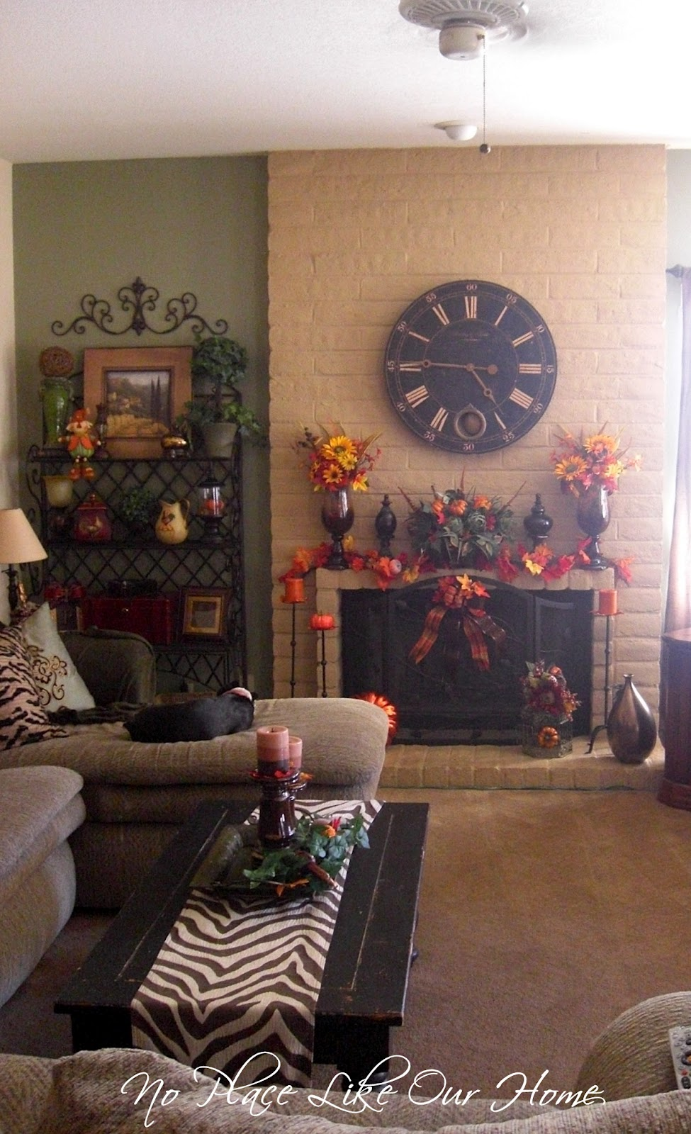 No Place Like Our Home Fall Living Room