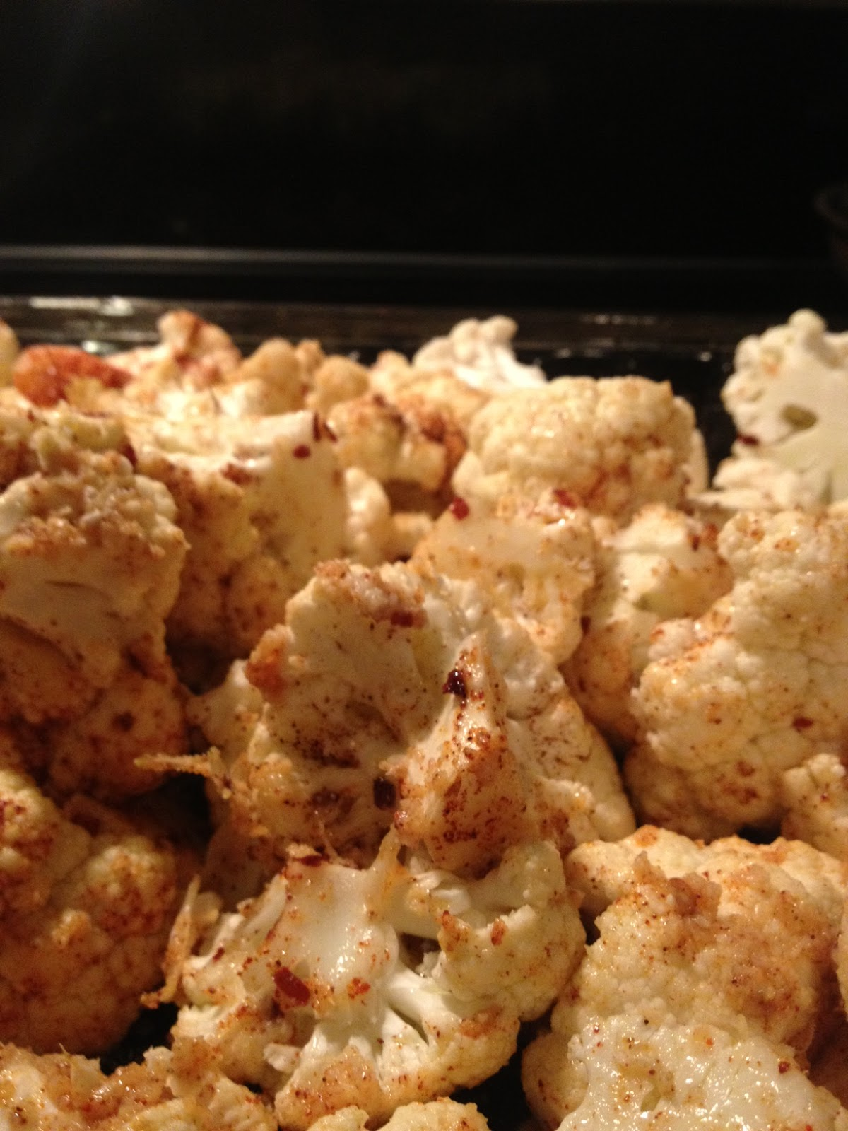 OMG Low carb!?: Slow roasted cauliflower and red pepper