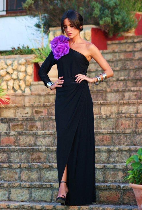 Vestido negro para boda de tarde