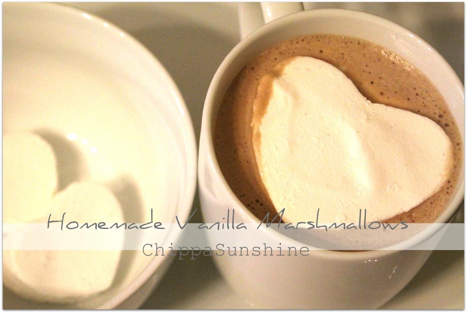ChippaSunshine: Homemade Vanilla Marshmallows