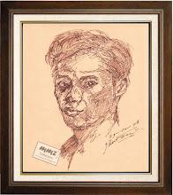 Sket wajah Sudjana Kerton