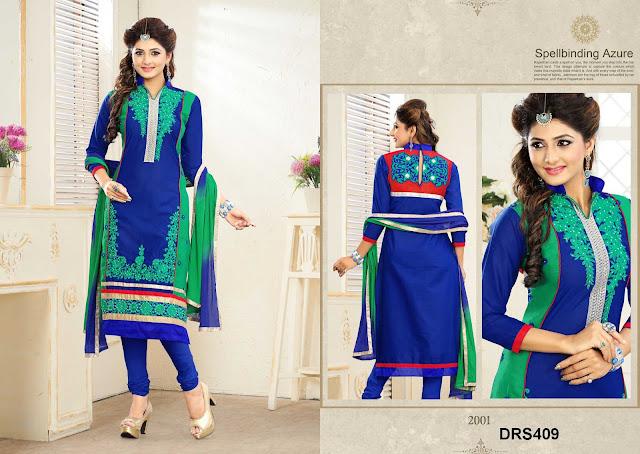 New Designer Churidar Cotton Dress Material