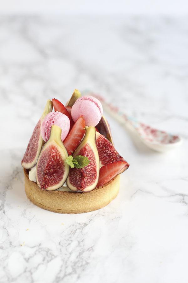 Tartaletas de higos y fresas