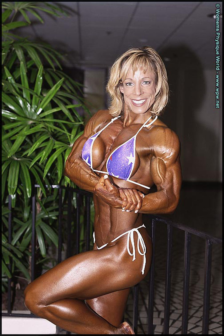 Michele Burdick Flexing Her Ripped Muscles