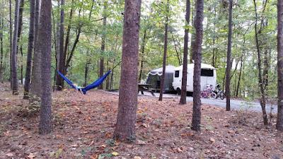 Uhaul Camper at Devils Fork State Park South Carolina