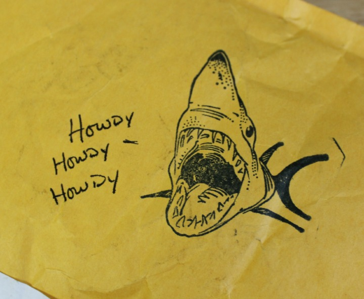 darling clandestine package shark stamp