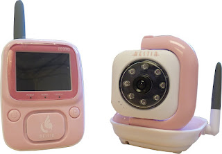 hestia wireless baby video monitor pink