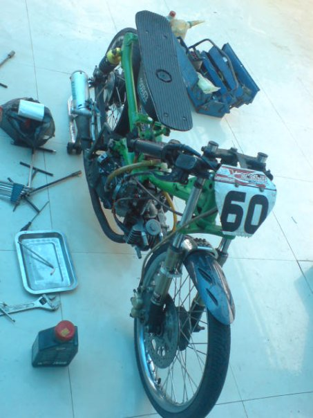 MOTOR DRAG revo satria fu Matic Drag | Racing look