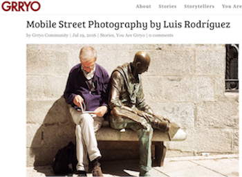 My article about Mobile Street Photography