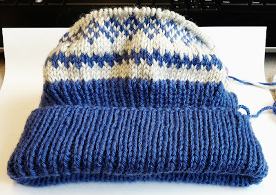 Fair Isle hat - my first attempt at this technique!